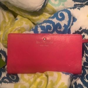 Hot Pink Kate Spade Leather Wallet